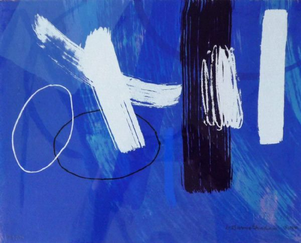 Wilhelmina Barns Graham Blue II limited edition signed print
